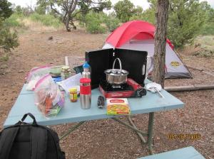 First time camping- ever - at Rancheros Campsite Santa Fe