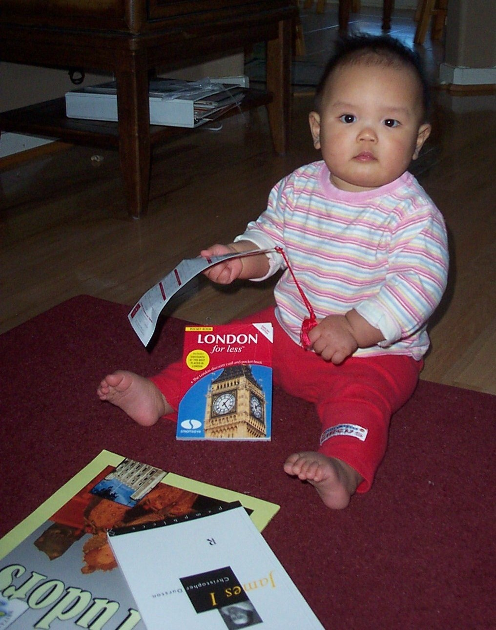 Planning her very first trip to England, Christmas Eve 2003