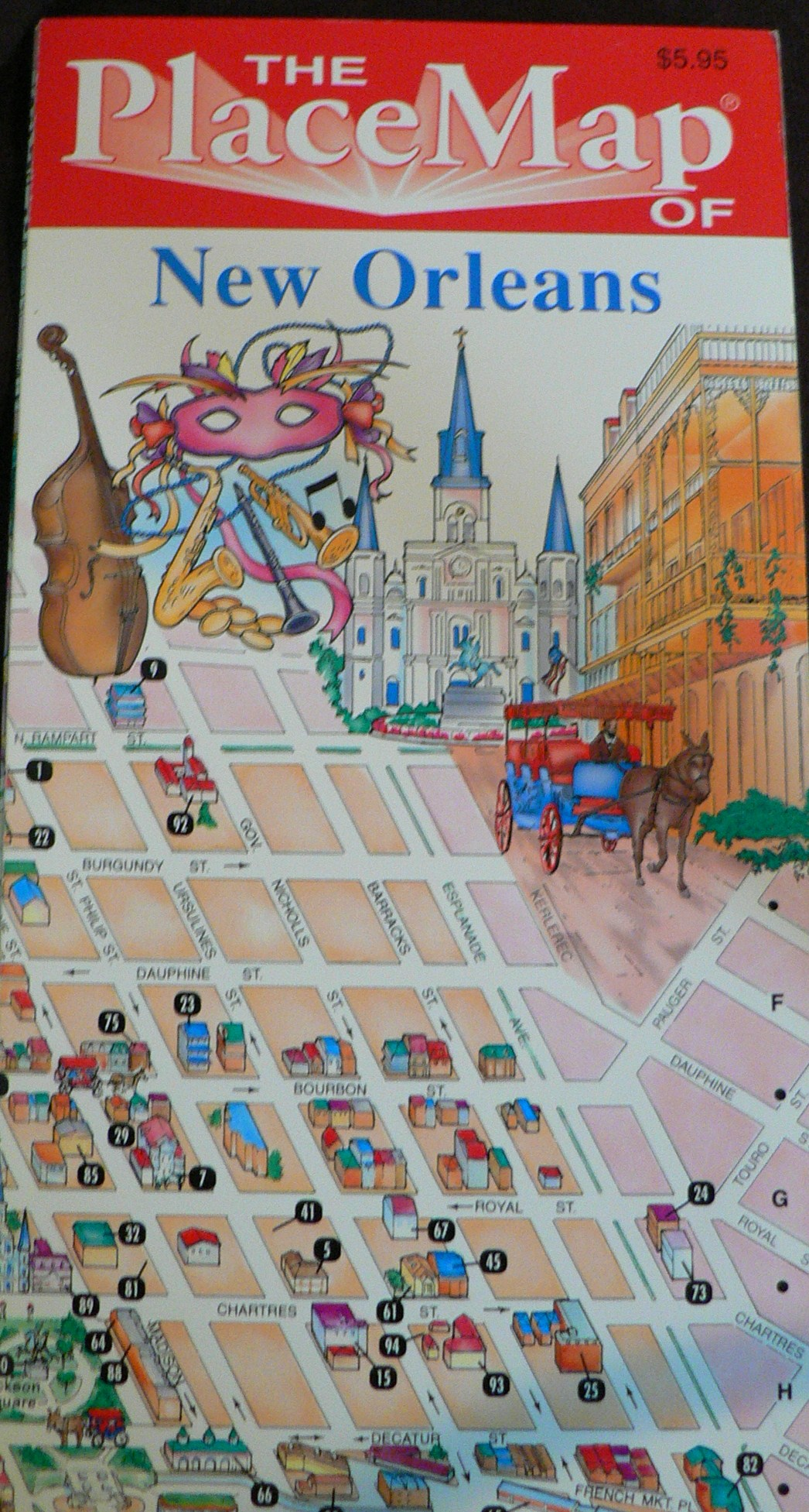Our Laminated New Orleans Map