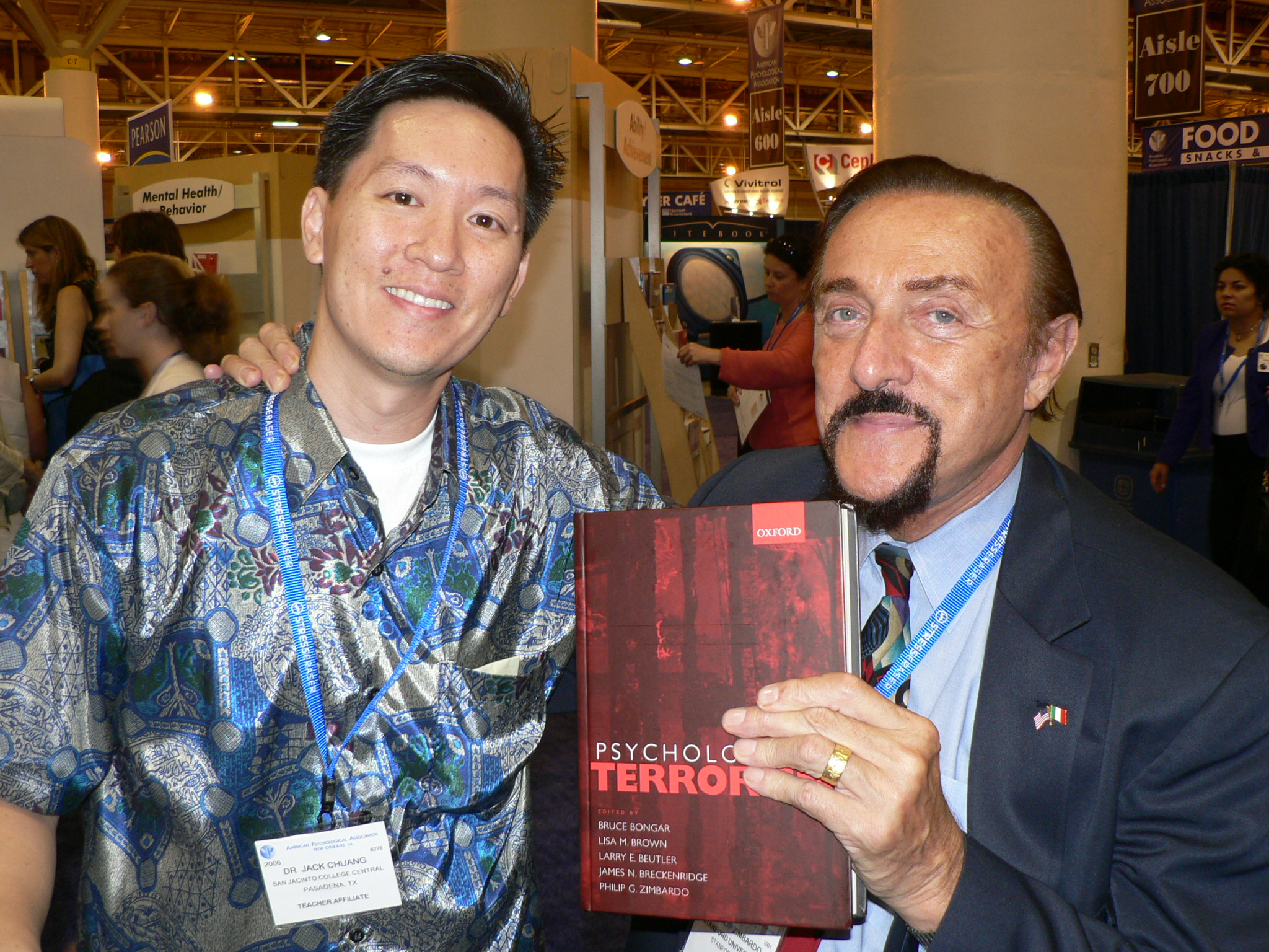 Jack with Philip Zimbardo, Ph.D at the APA Convention
