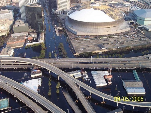New Orleans Superdome Overflight Photo, NOAA image  2005